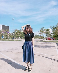Bi Huni - Zara T Shirt, Free People Dress - Vintage girl