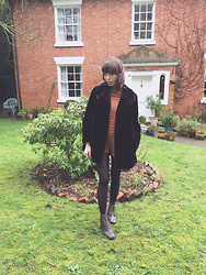 Zoë Harvey - Vintage Fur Coat, Asos Mock Neck Romper, American Apparel Black Tights, Vintage Boots - We'll meet again, don't how, don't know when