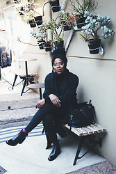 Foyin Og - Coats For Africa Coat, Woolworths Turtleneck, Topshop High Waisted Jeans, H&M Boots - Black Girl Magic
