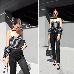 Venetia Kamara - Gamiss Off Shoulder Top, American Apparel Pants, Bershka Black Heels - T H E   C U T