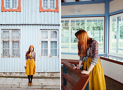 Liis Kalda - Vintage Blouse, H&M Dress, Vagabond Shoes - Make-believe Moomin Valley