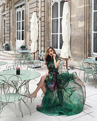 Willabelle Ong - Couturissimo Green Ruffled Dual Dress By Couturíssimo X Michael Cinco - Garden