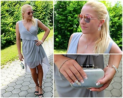 Gosia Borychowska - Haoduoyi Dress, Gamiss Clutch, Gamiss Bracelet, Gamiss Earrings, Gamiss Sunglasses, Gamiss Necklace - Gamiss full party look.