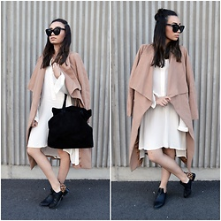 Melody R - Sportsgirl Shoes, Tony Bianco Bag, Become Studio Dress, Princess Polly Coat - Oversize me
