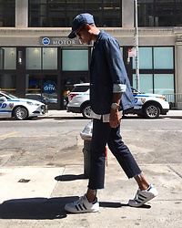 Justin T - Banana Republic Cap, American Eagle Outfitters Blazer, Banana Republic Jeans, Adidas Shoes - Denim Dayz