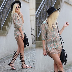 Faye S. - Spell Designs Playsuit, Jeffrey Campbell Shoes Sandals, C&A Bag - You take your road and I'll take mine