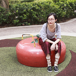 Ren Rong - Firmoo Glasses, Club Marc Pullover, Max Cropped Pants, Happy Socks Socks`, Zalora Shoes - Vegetable Garden