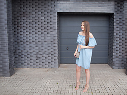 Magdalena K. -  - Denim Dress & Lace Up Heels