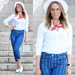 Mad Cat Fashion P. - Primark White Shirt, Topshop Jeans, New Look Hat - MyLook #92