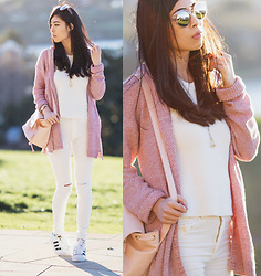 Isabel Z - Glassons Knit, Glassons Sunglasses, Boohoo Jeans - Rose coloured glasses