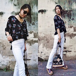 B @Style Voyage - Shein Floral Printed Blouse - Summer Flowers