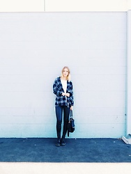 Katie Van Daalen Wetters - Zara Plaid Shirt, Givenchy Bag, Zara Leather Pants, Doc Martins Boots - Familiar Territory