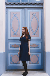 Liis Kalda - Liis Kalda Navy Sailor Dress, Vagabond Shoes - Sailor Sunday
