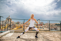 Anastasiya Craze - Alo Yoga Top, Carbon38 Legging, Nike Shoes - What to Wear for a Workout in Rome, Italy