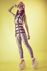 Ellie Nik - Penny Drop Eyelash Halter, Nixi Killick Leggings, Wildfox Ballerina Platforms - OTHERWORLD