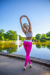 Anastasiya Craze - Sukishufu Leatherback Leggings - What to Wear for a Workout in Queen City, U.S.
