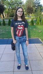 Karolina - Sinsay The Rolling Stones, Zara Jeans - The rolling stones