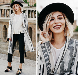 Masha Sedgwick - Weekday Jeans, Sandro Top - A little bit ethno