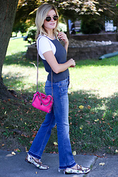 Kim Tuttle - Gucci Loafer, Sp Black Label, Stella Mccartney Falabella, Stolen Hearts Sweater Crop - Tank top and a tee