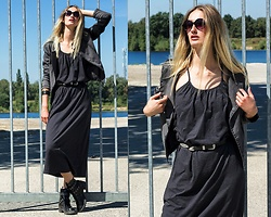 Eva Velt - Only Dress, Wholesale7 Bracelet, Sunglasses, Secondhand Jacket - Around the edges