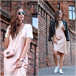 Justyna H - Zara Jacket - Buduar dress