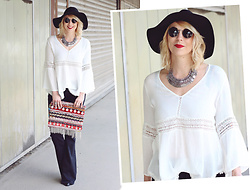 Lavie Deboite - Bershka Tunika, Zara Flared Pants, Offbeat Cut Ethno Clutch, H&M Hat - I wanna be a hippie