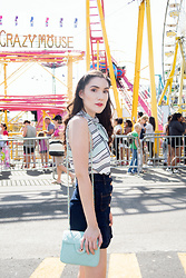 Carolina Pinglo - Forever 21 Striped Shirt, H&M Skirt - Carnival outfit | CNE