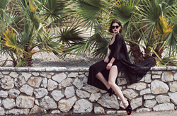Wiktoria Celmer - Mango Furry Sandals, Lace Kimono - GREECE part 2