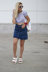 Doll Actitud Sabrina -  - Crop top & Denim