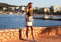 Anna Gotsyk - River Island Skirt, River Island Sneakers, Christian Dior Bag, Bershka Top - Dream. Love. Shop.