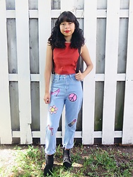Brisa Gomez - Forever 21 Crop Top, Asos Mom Jeans, Forever 21 Booties - Fun & Quirky