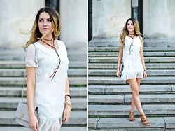 Angelika Rachocka -  - White Dress & Choker