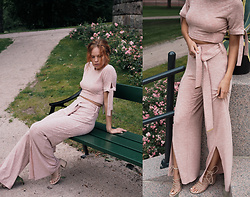 Jasmin Valta - Lavish Alice Knitted Top, Lavish Alice Knitted Pants, Mango Beige Shoes - PINKISH