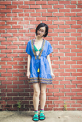 Ren Rong - Shein Dress, Us Polo Assn Bikini Top, Aldo Layered Necklace, Blackout Sg Sandals - Quirky Date Sunday