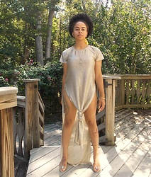 KaiaCeline R. - Black Milk Clothing Split Dress - Golden Is A Goddess