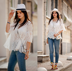 Viktoriya Sener - Sheinside Top, Soorty Jeans, Asos Hat, Asos Bag, Zaful Sandals - EASY BREEZY