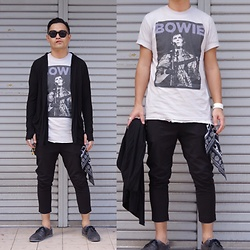 ★masaki★ - David Boowie Music Tee, Firstaid To The Injured Cardigans, Ch. Slim Chino - Japanese trash style 21