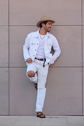 HAMID KHOUYI - Levi's® 501 Old Collection, Spring Field Sf - White and brown