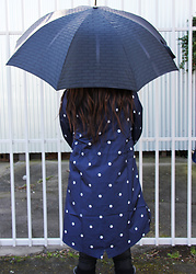 Lisa O - Mimco Umbrella, Element Raincoat - I'd sell my soul for some sun!