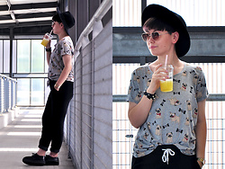 Karolina R. - Sinsay Tee, Sinsay Sweatpants, H&M Hat, Sinsay Sunglasses - Sunday is for sweatpants