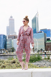 Monique Ceccato - State Of Georgia Knitted Jumpsuit, Siren Heels - Robe Suite