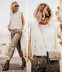 Masha Sedgwick - Givenchy Bag, Escada Sunglasses - The Grey Look