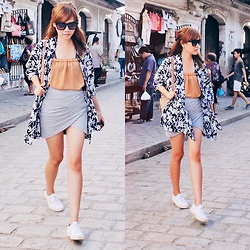 Anna  Dominique L. - Zara Skirt, Superga Sneakers - Calle Crisologo