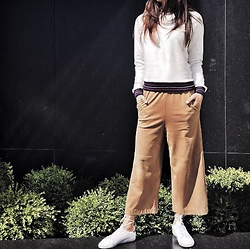 Lena Antonacci - Ardene Ribbed Sweatshirt, H&M Suede Culottes, Adidas Stan Smith - Keep calm and get your prepster on