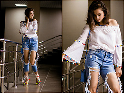 Katerina Lozovaya - Cndirect Blouse, Romwe Jeans, Romwe Shoes - Bonbon