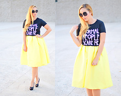 Nery Hdez - Dolce & Gabbana Sunglasses, Wholesale7 T Shirt, Choies Skirt - Normal People Scare me