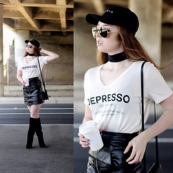 The Indie Girl Fleming - Immacul8collection Depresso Tee - Depresso