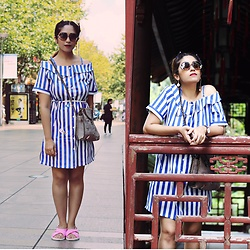 Surbhi Suri - Zaful Dress, Zaful Bag, Mumbai Hill Road Sliders, Sunglasses - Shanghai Travel diaries