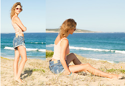 Alison Hutchinson - Project Social T Tank, One Teaspoon Shorts, Urban Outfitters Sunglasses - Casual Days at the Beach