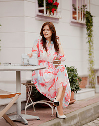 Viktoriya Sener - Vipme Flamingo Dress, Rebecca Minkoff Bag, Mango Shoes - FLAMINGO